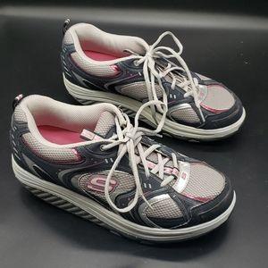 Skechers Shape Ups Toning Walking Shoes Size 8.5